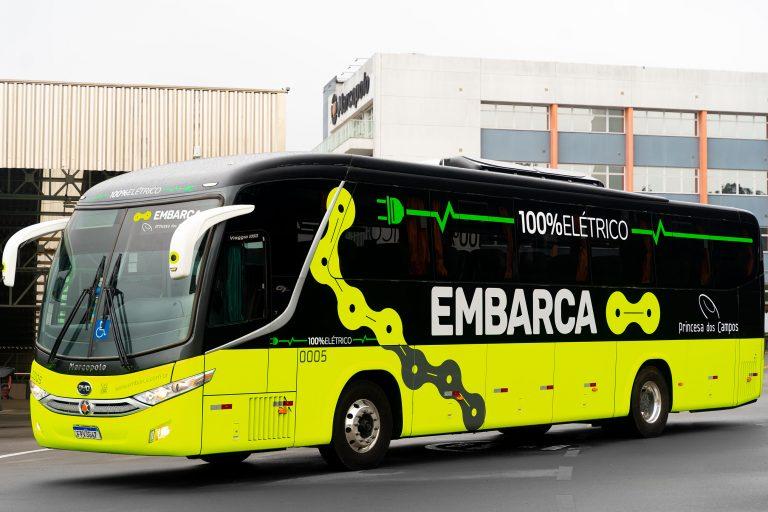 Expresso Princesa dos Campos estreia ônibus elétrico em testes
